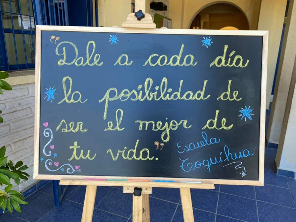 Hermoso mensaje Escuela Toquihua